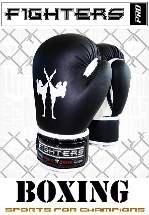 FIGHTERS - Boxhandschuhe / Kids / Schwarz / 6 oz