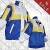 FIGHT-FIT - Jacke Warm Up / Blau-Weiss-Gelb