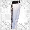 FIGHT-FIT - Kick-Boxing Hosen / Satin / Weiss
