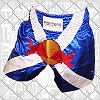 FIGHTERS - Muay Thai Shorts / Red Bull / Navy Stripes
