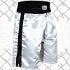 FIGHT-FIT - Box Shorts Long / Weiss-Schwarz