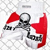 FIGHTERS - Muay Thai Shorts / Skull / White Red