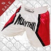 FIGHT-FIT - Muay Thai Shorts / Muay Thai White Red