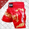 FIGHTERS - Muay Thai Shorts / Rot-Gold - MATERIALFEHLER