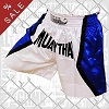 FIGHT-FIT - Muay Thai Shorts / Muay Thai White Blue