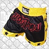 FIGHTERS - Muay Thai Shorts / Schwarz-Gelb / Medium