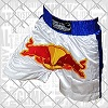 FIGHTERS - Muay Thai Shorts / Red Bull / Weiss-Blau / Large