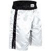 FIGHT-FIT - Box Shorts Long / Weiss-Schwarz / XL