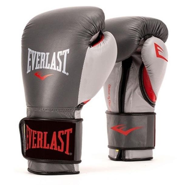 Everlast - Boxhandschuhe / Powerlock Training Gloves / Grau / 12 oz