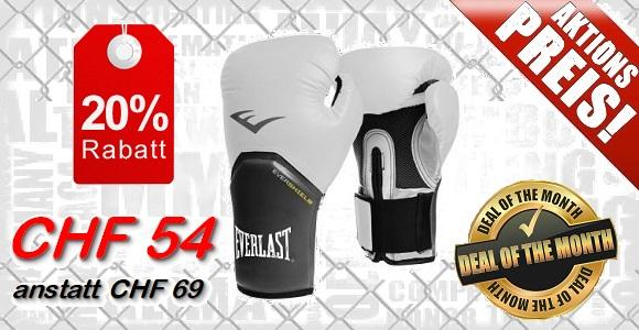 Everlast Boxhandschuhe / Elite Pro Style / Weiss